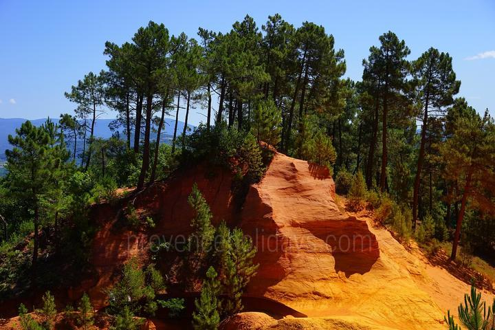 wandelen in Roussillon, Luberon : Sentiers des Ocres
